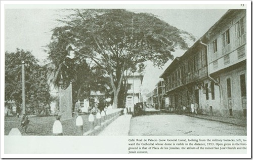 Calle Real del Palacio (now General Luna) c1913
