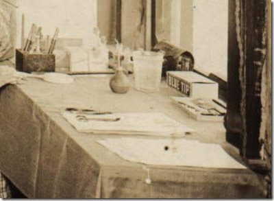 Table at Dental Office in Brinkley  Arkansas January to April 1922