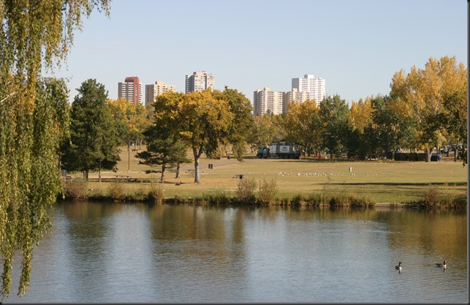 View of Downtown Edmonton from Hawrelack Park