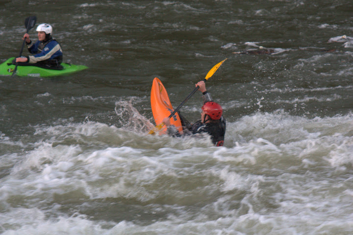 Tim showing off his flat-water skills