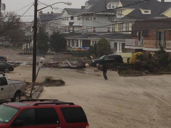 Hurricane Sandy covered Rockaway Beach, Queens with sand and debris. Photo: Megan Braden-Perry