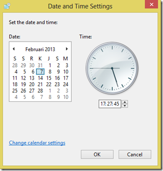 Date and time setting