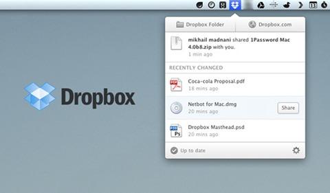 Nueva actualización de Dropbox