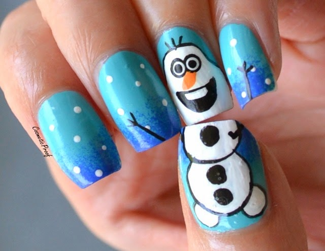 Revlon | Colorstay Gel Envy Polishes with Olaf from Frozen Nail Art |  Cosmetic Proof | Vancouver beauty, nail art and lifestyle blog - Revlon Colorstay Gel Envy Polishes With Olaf From Frozen Nail Art