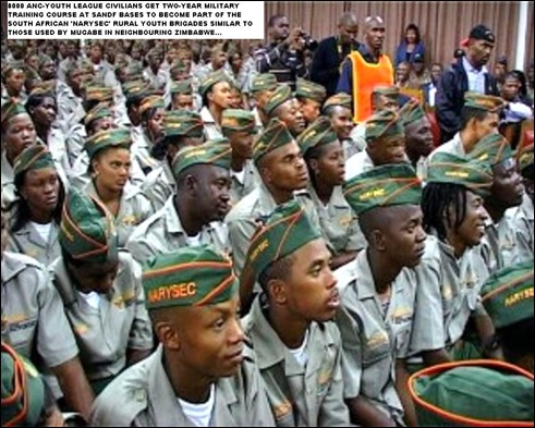 ANC NARISEC youth corps 8000 strong two year military training