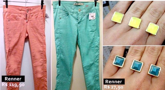 calças candy color moda feminina