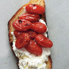 Roasted Tomato and Ricotta Crostini