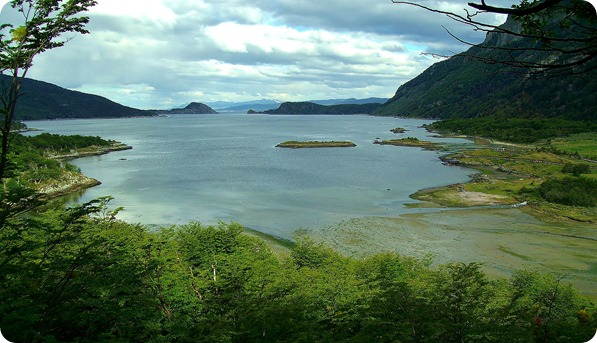 Bahia Lapataia vista desde o Mirante
