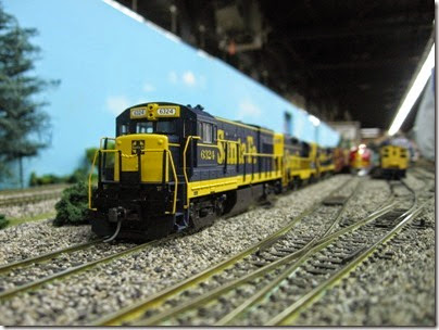 IMG_5399 Atchison, Topeka & Santa Fe U30B #6324 on the LK&R HO-Scale Layout at the WGH Show in Portland, OR on February 17, 2007