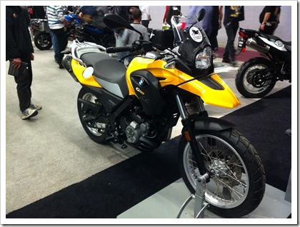 BMW G650GS 2013 Salon Moto de Montreal