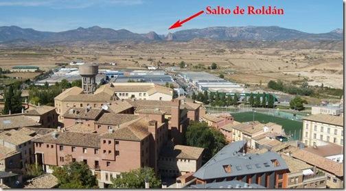 Panorámica desde la torre de la Catedral de Huesca - Salto de Roldán