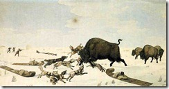 Rindisbacher-buffalo hunt 1822-24