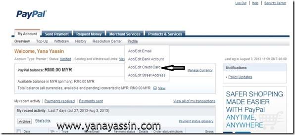 Cara daftar Paypal205