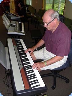 George Watt got the Korg piano swinging along nicely