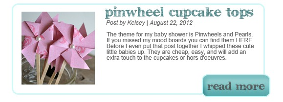 Pinwheel Cupcake Toppers