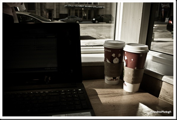 I spent a lot of time at Starbucks updating my laptop :P