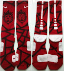 nike basketball elite lebron socks lionhead 1 01 Matching Nike Basketball Elite Socks for LeBron 9 Miami Vice