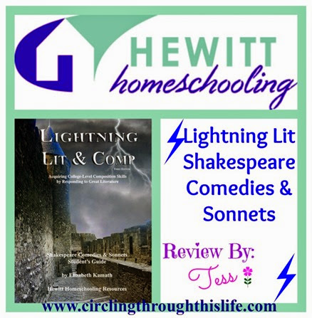 Hewitt Homeschooling Lightning Lit Shakespeare Comedies Review by Tess