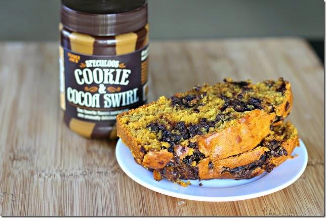 Cookie-Cocoa Swirled Pumpkin Bread