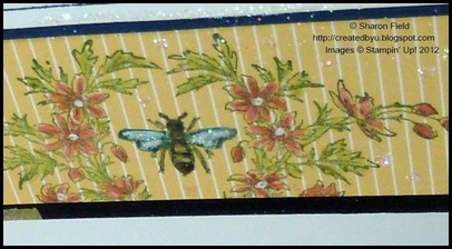stamp and color the bee and bough images with markers