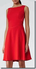 Reiss Red Pleat Back Dress