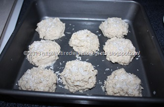 Coconut Topped Biscuit Scones - oven ready
