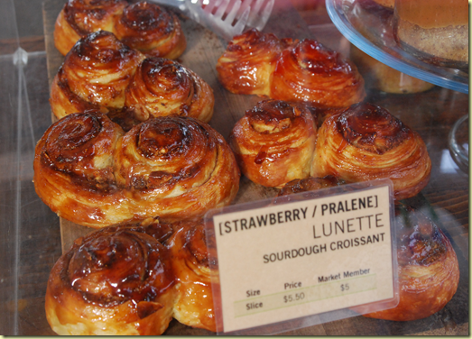 Can you imagine how good strawberry pralinetastes when layered through a sweet croissant?!