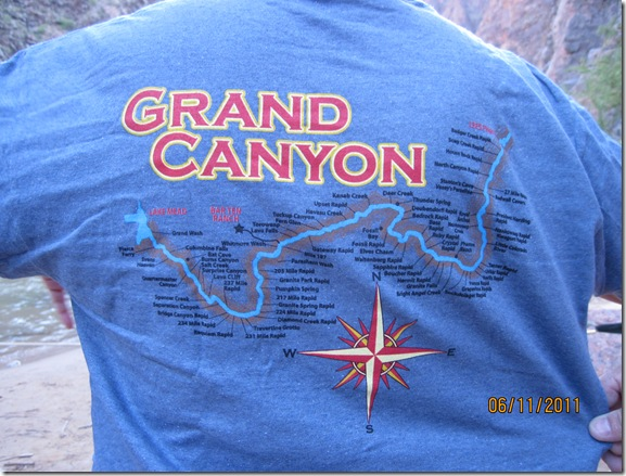 Map of our  route on tee shirt included in package