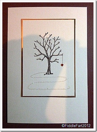 Bare Tree amd Heart Christmas Card