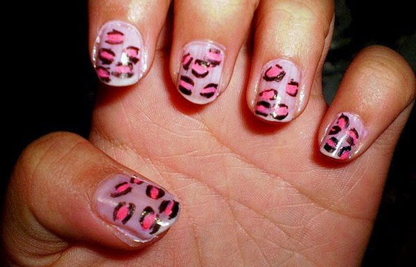 Cheetah Print Nail Design Pink Cheetah Nail Designs