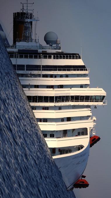 Así quedó el Costa Concordia