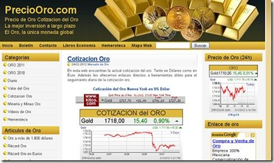 precio oro cotizacion tiempo real