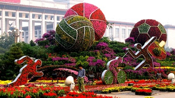 Beijing Olympics Topiary