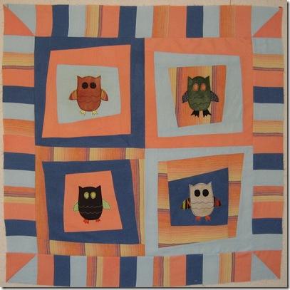 owl quilt top