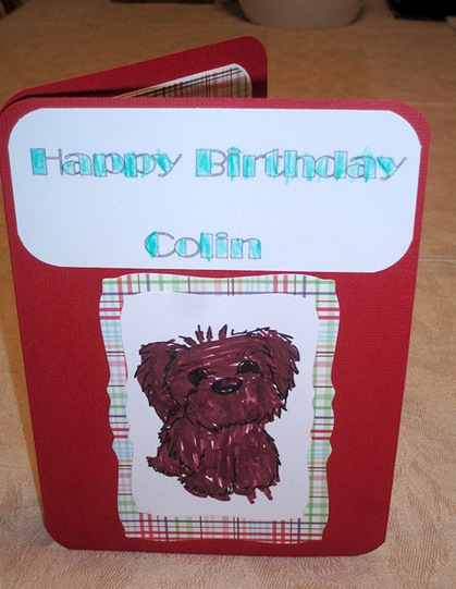 Colin's Birthday Card. by Hunter