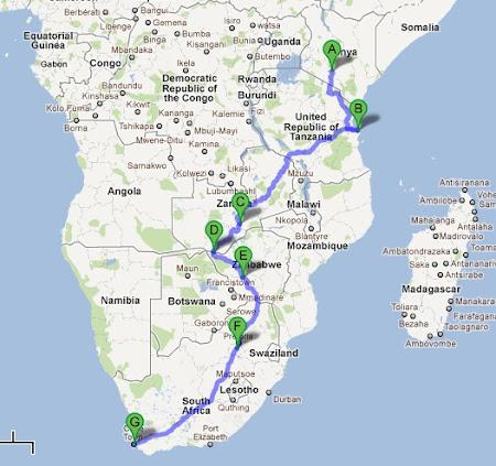 Overland Africa: Nairobi - Cape Town