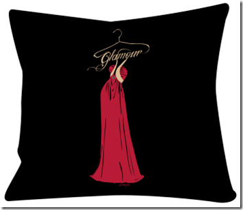 coussin design glamour