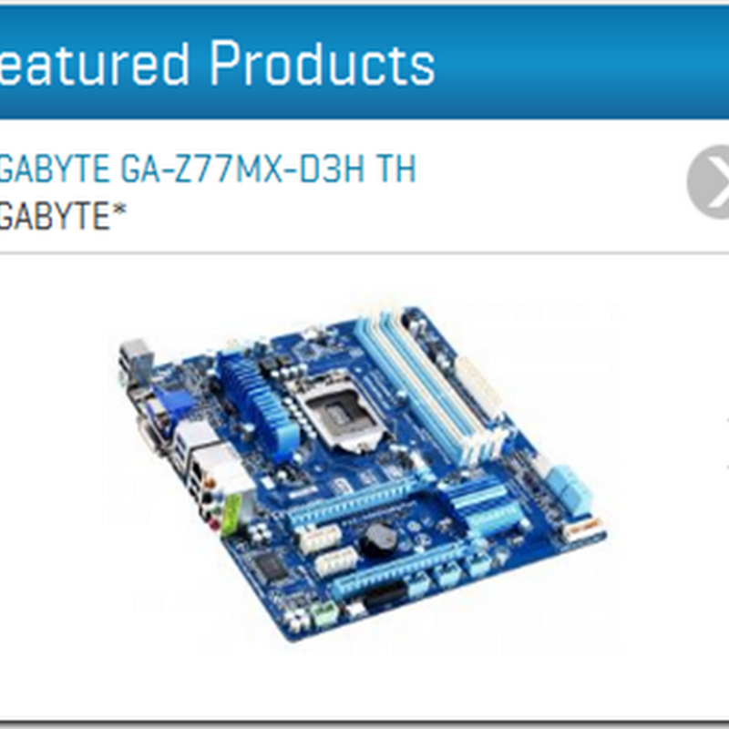Thunderbolt: three GIGABYTE motherboards featured on Intel's Thunderbolt website