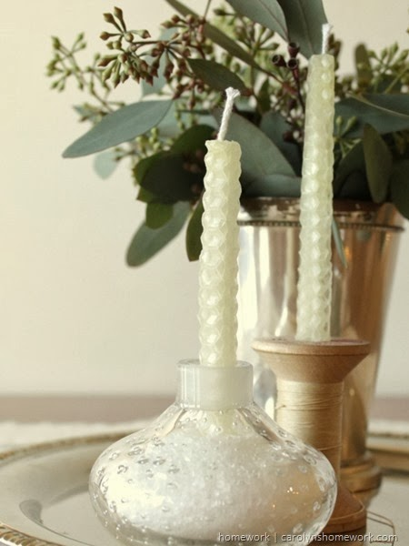 Winter Centerpiece via homework | carolynshomework.com