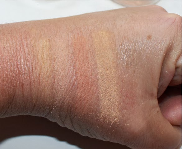 DIY Mineral Makeup Swatches