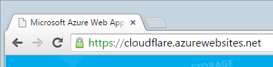 The same website loaded over HTTPS