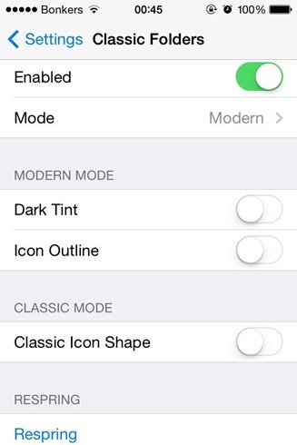 ClassicFolders Cydia Tweak iOS 6 Folders On iOS 7 iOS 8 (1)