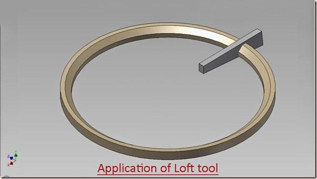 Application of 'Loft' tool Ex.1