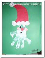 Minnie's Handprint Santa