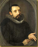 One of the two surviving portraits of Sweelinck, this one dates from 1606. It is attributed to Gerrit Pietersz Sweelink, the composer's brother.