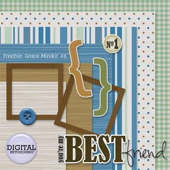 A digital scrapbook freebie mini kit from Grace of Digital Retouching - JustAnotherPixel.net