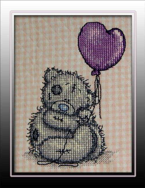 Tatty Teddy, stingsatt i 5D Cross Stitcher