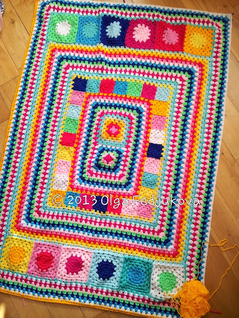 Colour Rush Blanket wip