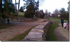 sunken road, Frederickburg, VA, Winter 2011 family vacation