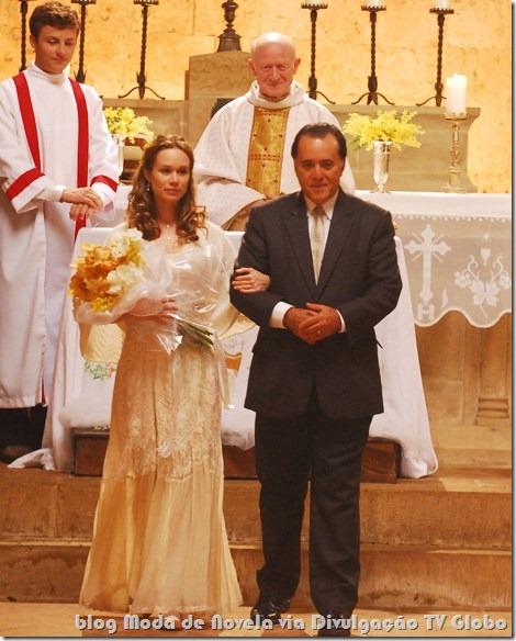 moda da novela passione - vestido de noiva da clara